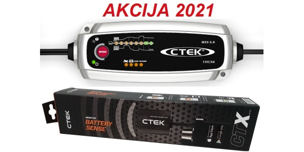 CTEK MXS 5.0 in CTX Battery Sense 12V za nadzor akumulatorja - PRIVARČUJETE 22,80 EUR